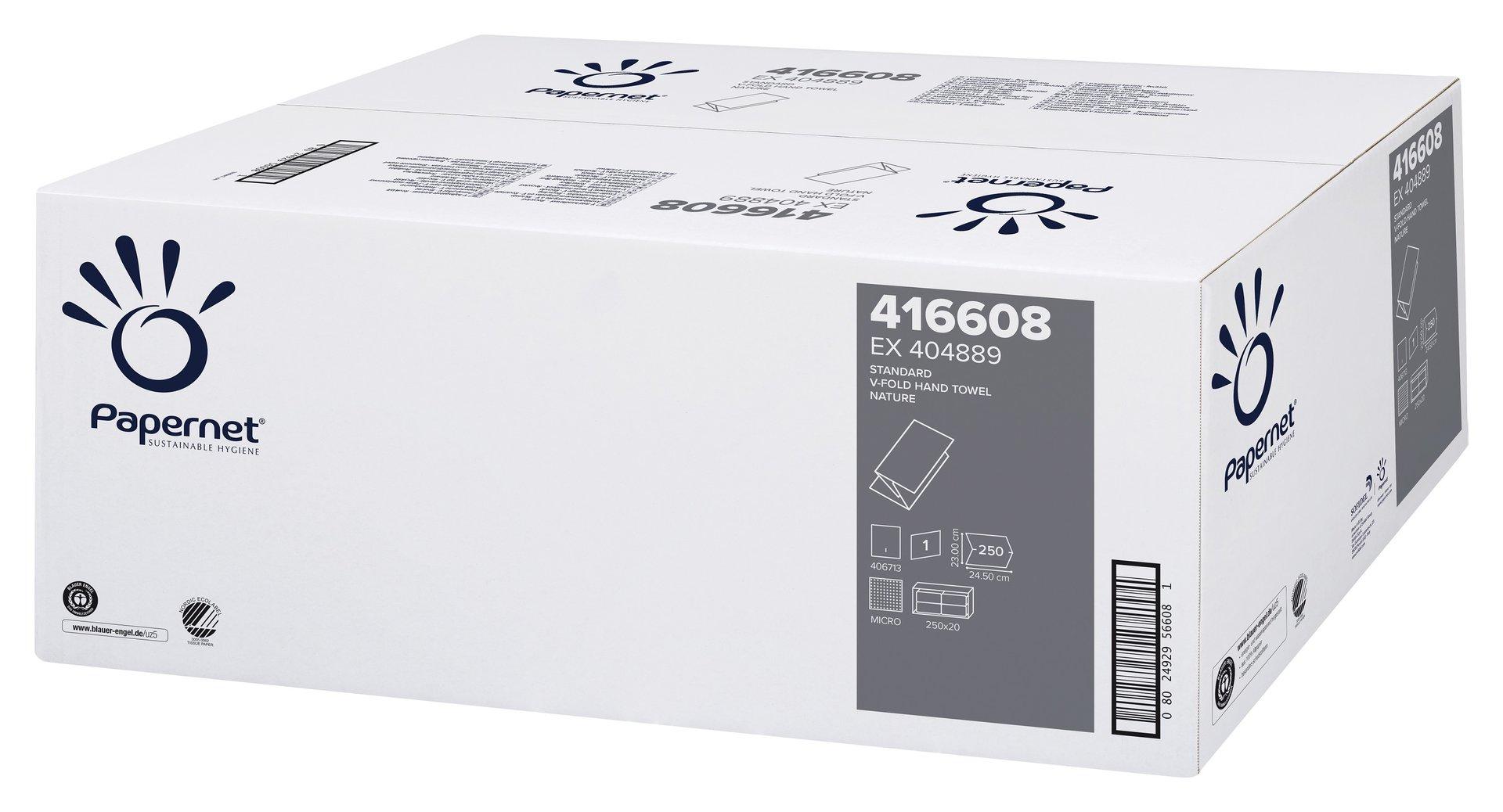 5.000 Blatt Handtücher Papierhandtücher natur 1-lagig 24,5 x 23 cm np